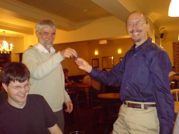 Bob receives his Blue Obelisk